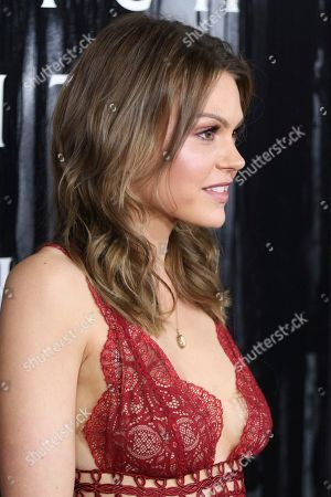 """Aimee Teegarden arrives at the LA Premiere of """"Rings"""" at the Regal LA LIVE Stadium 14, in Los Angeles"""