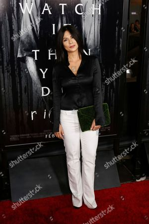 """Sandra Eloani arrives at the LA Premiere of """"Rings"""" at the Regal LA LIVE Stadium 14, in Los Angeles"""