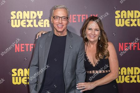 "Dr. Drew Pinsky, left, and Susan Pinsky arrive at the LA Premiere of ""Sandy Wexler"" at the Arclight Hollywood, in Los Angeles"