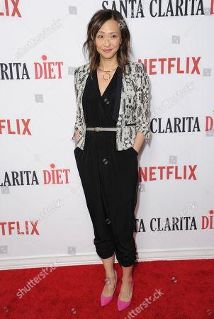 "Joy Osmanski arrives at the Los Angeles premiere of ""Santa Clarita Diet"" season one at the Cinerama Dome at ArcLight Hollywood on"