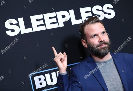 """Director Baran Odar arrives at the Los Angeles premiere of """"Sleepless"""" at Regal L.A. Live on"""
