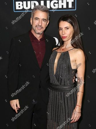 "Dermot Mulroney, left, and Tharita Cesaroni arrive at the Los Angeles premiere of ""Sleepless"" at Regal L.A. Live on"