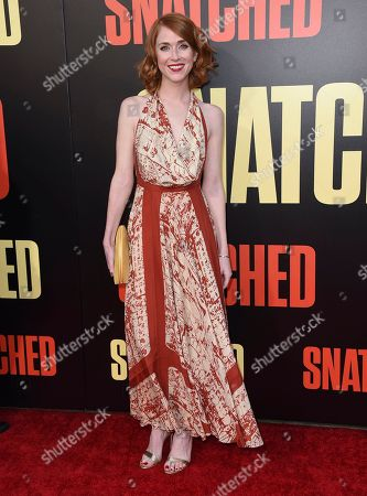 """Producer Jessie Henderson arrives at the Los Angeles premiere of """"Snatched"""" at the Regency Village Theater on"""