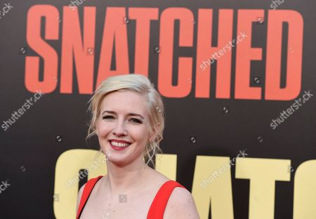 "Stock Picture of Writer Katie Dippold arrives at the Los Angeles premiere of ""Snatched"" at the Regency Village Theater on"