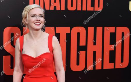 "Writer Katie Dippold arrives at the Los Angeles premiere of ""Snatched"" at the Regency Village Theater on"
