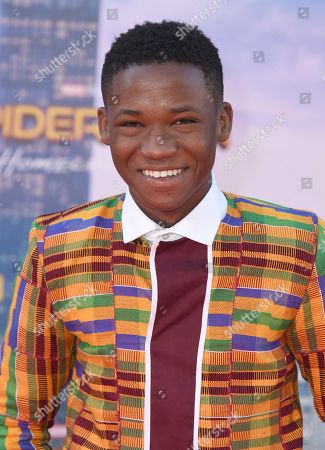 """Stock Image of Abraham Attah arrives at the Los Angeles premiere of """"Spider-Man: Homecoming"""" at the TCL Chinese Theatre on"""