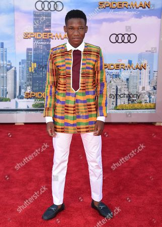 """Stock Picture of Abraham Attah arrives at the Los Angeles premiere of """"Spider-Man: Homecoming"""" at the TCL Chinese Theatre on"""