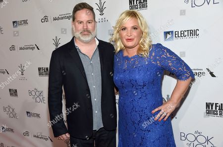 "Stock Image of Director Bill Purple, left, and producer Michelle Purple arrive at the Los Angeles premiere of ""The Book of Love"" at Pacific Theatres at The Grove on"