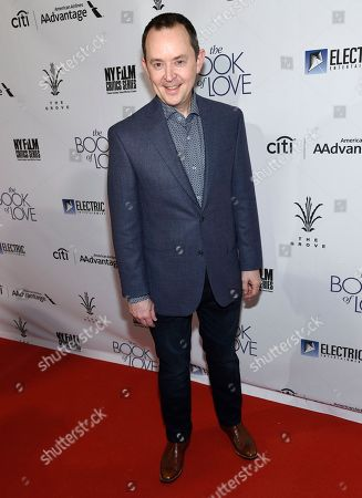 """Stock Image of Richard Robichaux arrives at the Los Angeles premiere of """"The Book of Love"""" at Pacific Theatres at The Grove on"""