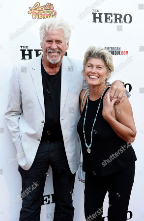 "Actor Barry Bostwick and his wife Sherri pose together at the premiere of the film ""The Hero"" at the Egyptian Theatre, in Los Angeles"