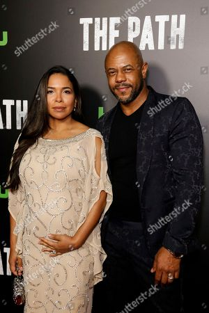 """Rockmond Dunbar, right, and Maya Gilbert arrive at the LA Premiere of """"The Path"""" Season Two, in Los Angeles"""