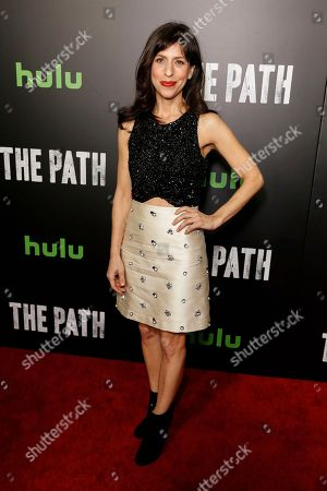 "Jessica Goldberg arrives at the LA Premiere of ""The Path"" Season Two, in Los Angeles"