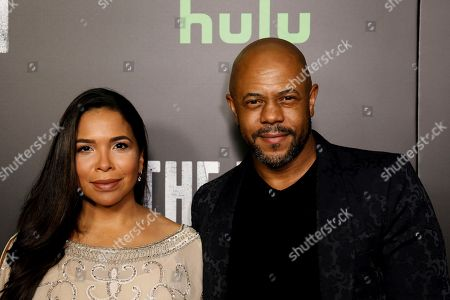 """Rockmond Dunbar, left, and Maya Gilbert arrive at the LA Premiere of """"The Path"""" Season Two, in Los Angeles"""
