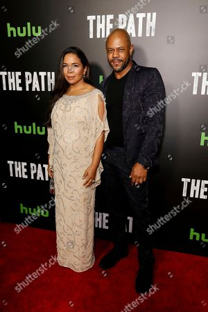 Rockmond Dunbar, left, and Maya Gilbert arrive at the LA Premiere of 'The Path' Season Two, in Los Angeles