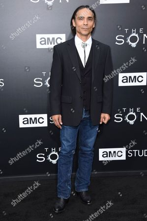 "Zahn McClarnon attends the LA premiere of ""The Son"" Season One held at ArcLight Hollywood, in Los Angeles"