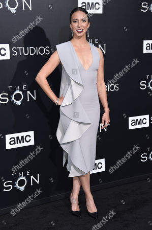 "Elizabeth Frances attends the LA premiere of ""The Son"" Season One held at ArcLight Hollywood, in Los Angeles"