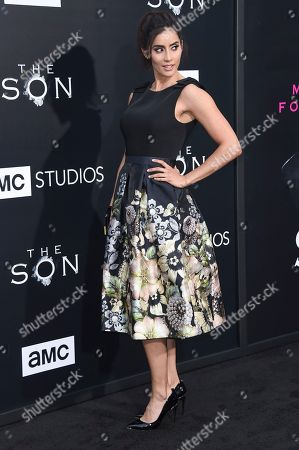 "Paola Nunez attends the LA premiere of ""The Son"" Season One held at ArcLight Hollywood, in Los Angeles"