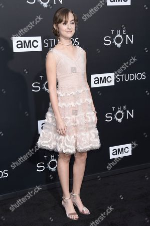 """Sydney Lucas attends the LA premiere of """"The Son"""" Season One held at ArcLight Hollywood, in Los Angeles"""