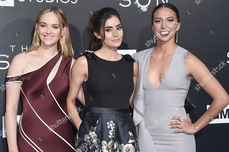 "Jess Weixler, from left, Elizabeth Frances and Paola Nunez attend the LA premiere of ""The Son"" Season One held at ArcLight Hollywood, in Los Angeles"