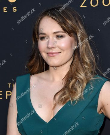 """Magdalena Lamparska arrives at the Los Angeles premiere of """"The Zookeeper's Wife"""" at The ArcLight Hollywood on"""