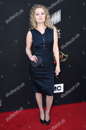 """Sarah Minnich attends the Los Angeles premiere of """"Better Call Saul"""" at ArcLight Cinemas, in Culver City, Calif"""