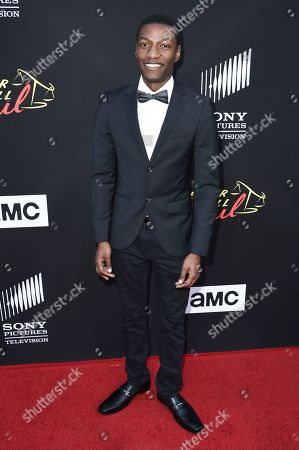 """Brandon K. Hampton attends the Los Angeles premiere of """"Better Call Saul"""" at ArcLight Cinemas, in Culver City, Calif"""