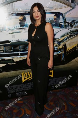 """Sandra Eloani arrives at the Los Angeles Special Screening of """"Lowriders"""" at the L.A. Live on"""