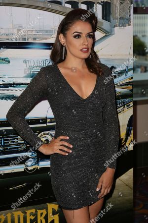"""Vannessa Vasquez arrives at the Los Angeles Special Screening of """"Lowriders"""" at the L.A. Live on"""
