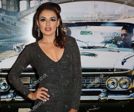 "Stock Image of Vanessa Vasquez arrives at the Los Angeles Special Screening of ""Lowriders"" at the L.A. Live on"