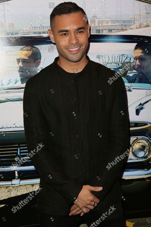"""Gabriel Chavarria arrives at the Los Angeles Special Screening of """"Lowriders"""" at the L.A. Live on"""