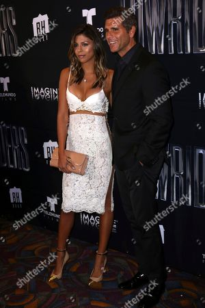 "Stock Photo of Christian Meier, right, and Alondra Garcia Miro arrive at the Los Angeles Special Screening of ""Lowriders"" at the L.A. Live on"