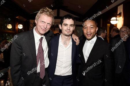 Marius De Vries, Director/Writer Damien Chazelle and John Legend seen at Lionsgate Celebrates the Music of LA LA LAND at, in Los Angeles
