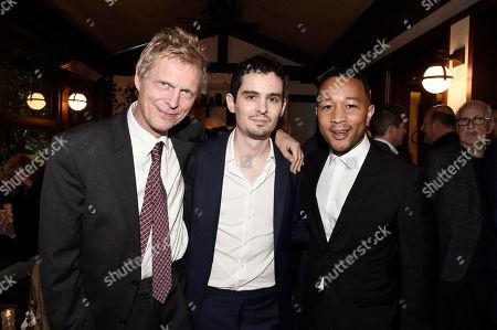 Marius De Vries, Director/Writer Damien Chazelle and John Legend seen at Lionsgate Celebrates the Music of LA LA LAND, in Los Angeles