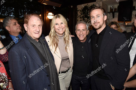 Mike Medavoy, Irena Ferris, Producer Marc Platt and Ryan Gosling seen at Lionsgate Celebrates the Music of LA LA LAND, in Los Angeles