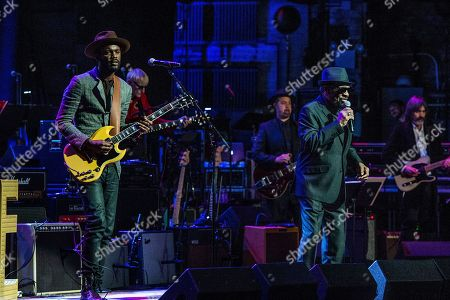 Gary Clark Jr., left, and William Bell perform at Love Rocks NYC! at the Beacon Theatre on in New York