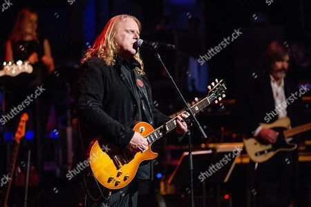 Warren Haynes performs at Love Rocks NYC! at the Beacon Theatre on in New York