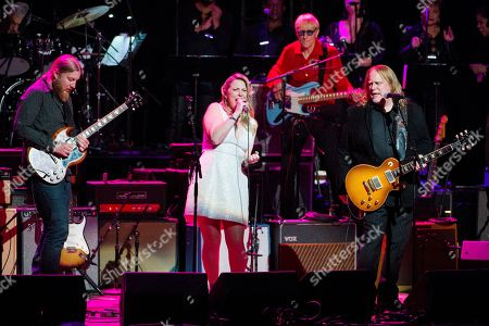 Derek Trucks, from left, Susan Tedeschi and Warren Haynes perform at Love Rocks NYC! at the Beacon Theatre on in New York