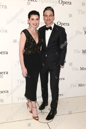 Julianna Margulies, left, and Keith Lieberthal, right, attend The Metropolitan Opera's 50th anniversary at Lincoln Center celebration, in New York