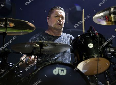 Robin Goodridge of the band Bush performs in concert during the MMRBQ at the BB&T Pavilion, in Camden, N.J