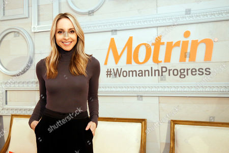Stock Image of Gabby Bernstein helps unveil the launch of the MOTRIN® #WomanInProgress campaign on at And & And, in New York. MOTRIN® #WomanInProgress celebrates women who have shifted their perspective on painful moments to enrich their personal growth
