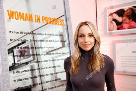 Stock Photo of Gabby Bernstein helps unveil the launch of the MOTRIN® #WomanInProgress campaign on at And & And, in New York. MOTRIN® #WomanInProgress celebrates women who have shifted their perspective on painful moments to enrich their personal growth