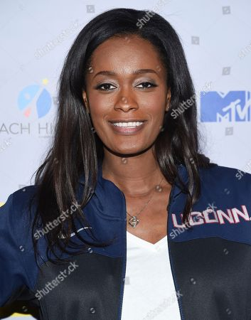 Swin Cash attends MTV's 2017 National College Signing Day at The Public Theater, in New York