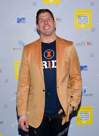 Stock Image of Football player David Diehl attends MTV's 2017 National College Signing Day at The Public Theater, in New York