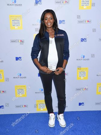 Stock Photo of Swin Cash attends MTV's 2017 National College Signing Day at The Public Theater, in New York