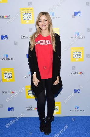 Internet celebrity Justine Ezarik aka iJustine attends MTV's 2017 National College Signing Day at The Public Theater, in New York