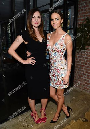 Actresses Jill Flint, left, and Arielle Kebbel attend the NBC Summer Talent Cocktail Party at 1 Hotel Central Park, in New York