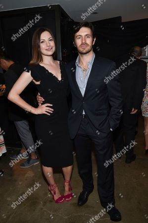 Actors Jill Flint, left, and Eoin Macken attend the NBC Summer Talent Cocktail Party at 1 Hotel Central Park, in New York