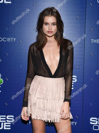 """Model Lexi Wood attends the """"Shades of Blue"""" season two premiere, hosted by NBC and The Cinema Society, at The Roxy Cinema, in New York"""