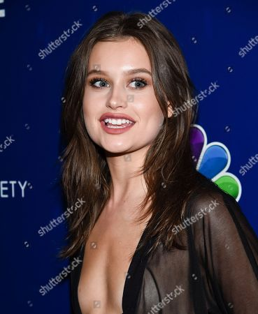 """Stock Picture of Model Lexi Wood attends the """"Shades of Blue"""" season two premiere, hosted by NBC and The Cinema Society, at The Roxy Cinema, in New York"""