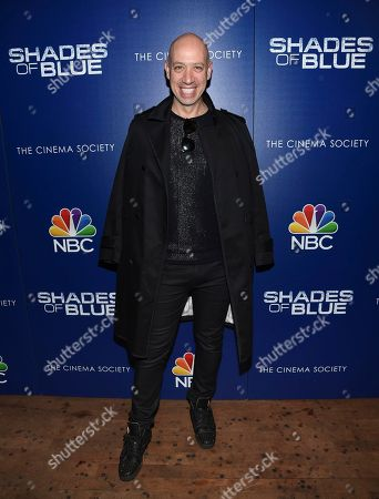 """Robert Verdi attends the """"Shades of Blue"""" season two premiere, hosted by NBC and The Cinema Society, at The Roxy Cinema, in New York"""